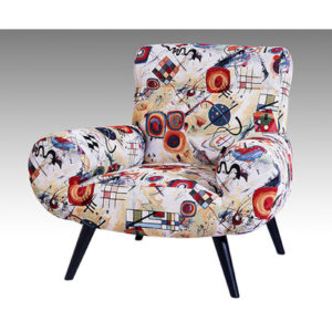 FAUTEUIL CALIPSO – tissu motif abstrait