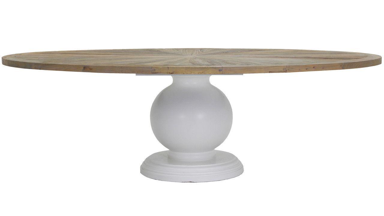 Table salle à manger ovale esprit campagne Richmond Interios ...