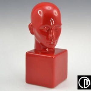 Satue visage rouge-Bois&Deco
