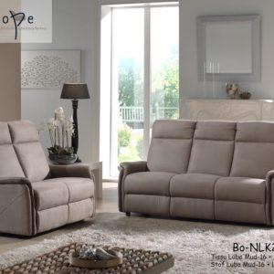 Canapé fixe et relax 1 à 3 places micro fibre taupe – BRAZIL