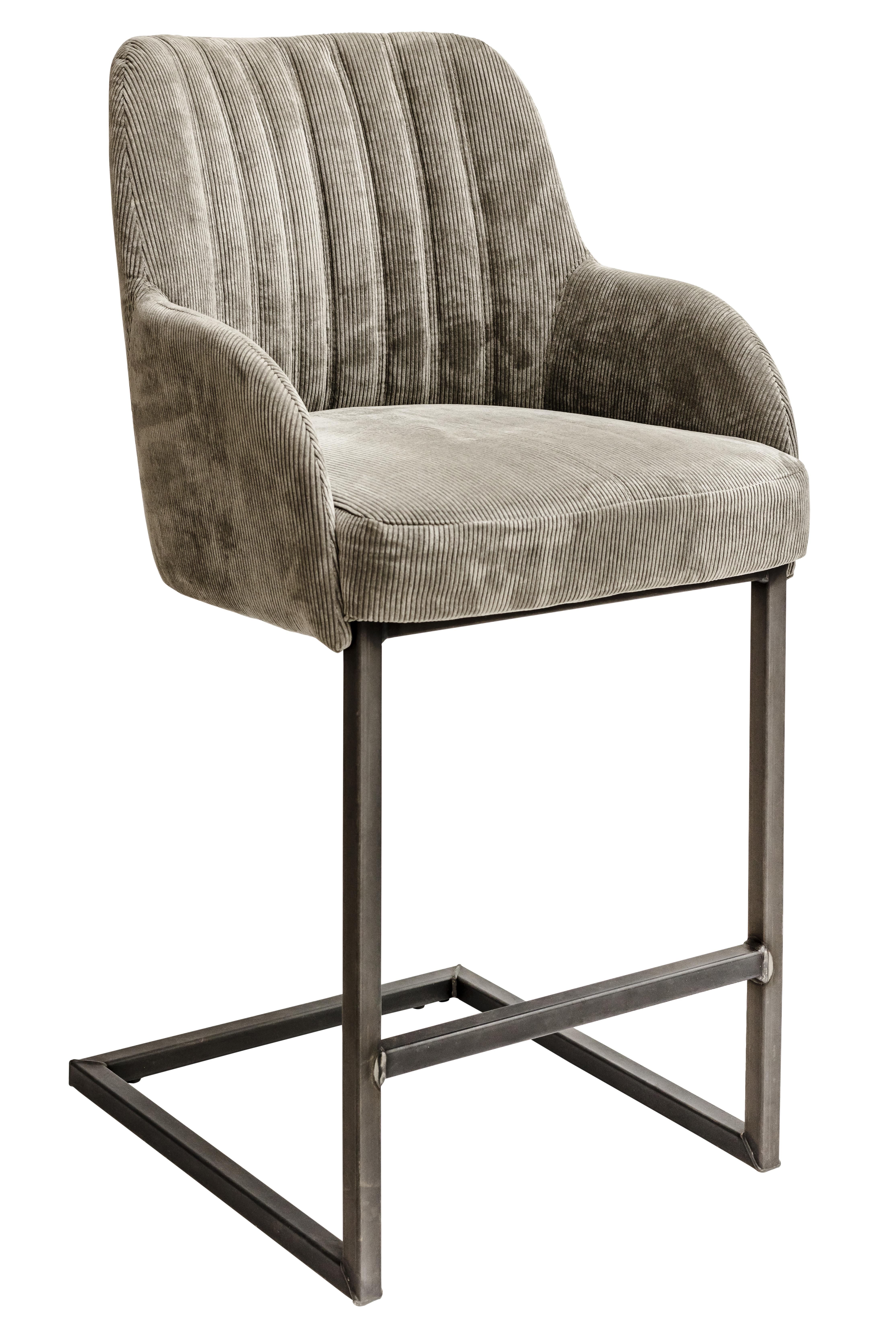 chaise haute acero m tal et tissu bois deco. Black Bedroom Furniture Sets. Home Design Ideas