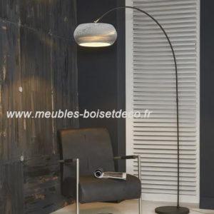 Lampadaire design H.200cm – ABAT-JOUR CARTON SCULPTE MAIN