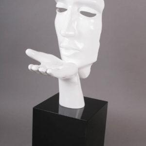 statue-visage-blanc-soufle-resine-Bois&deco-nord-cambrai-valenciennes-meubles-salons-decoration