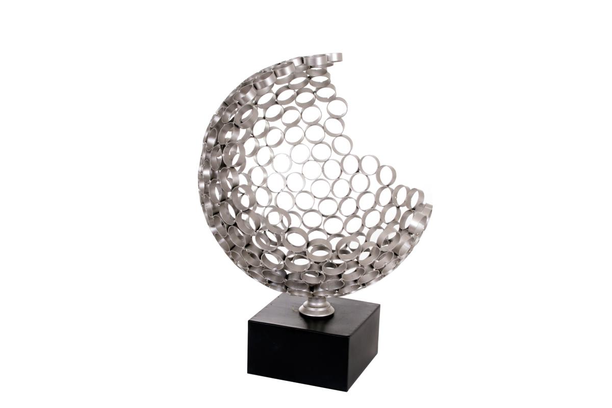 sculpture d co socadis globe ouvert sur pied bois deco. Black Bedroom Furniture Sets. Home Design Ideas