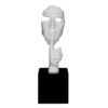 sculpture-statue-visage-blanc-doigt-chut-en-secreto-decoration-interieur