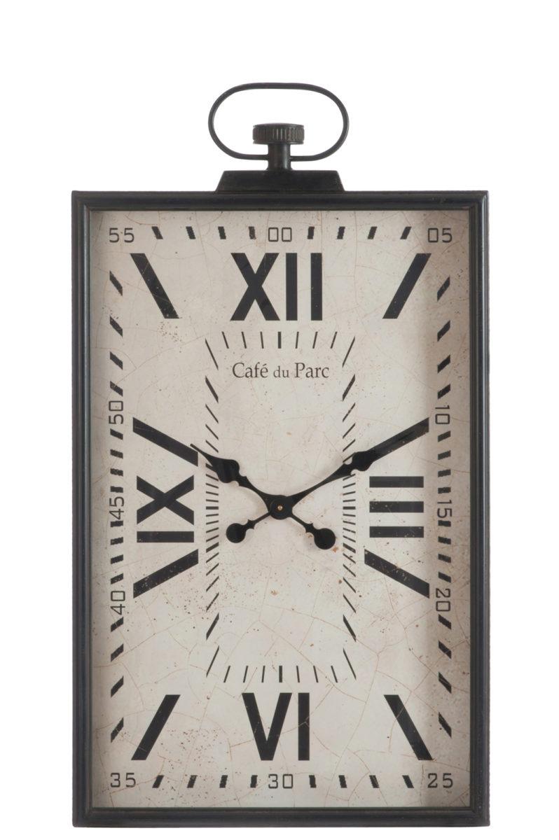 horloge poser jolipa mtal argent et marron vintage