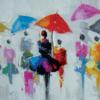 tableau peinture originale deco murale avec couleurs salon chambre entree maison