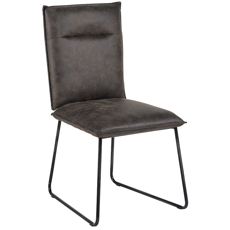 chaise cuir casita cha600gri coloris gris bois deco beauvois cambresis. Black Bedroom Furniture Sets. Home Design Ideas