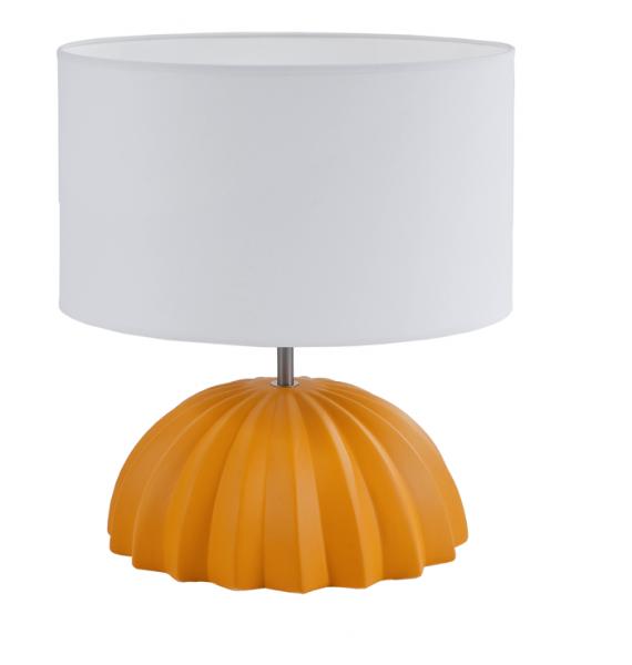 lampe table nausicaa c ramique jaune mat bois deco. Black Bedroom Furniture Sets. Home Design Ideas