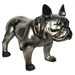 statue-chien-bouledogue-bulldog-gris-metallise-argent-decoration-originale-bois&deco-cambresis-nord