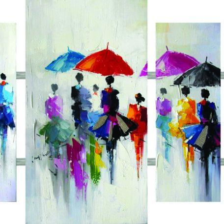 toile-tableau-peinture-femme-parapluies-4-parties-quadriptyque-Bois&Deco-beauvois-cambresis-cadraven