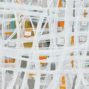 tableau-toile-peinture-abstrait-orange-blanc-incrustation-metal-cadr'aven-magasin-deco-decoration-bois&deco-beauvois-cambresis-nord