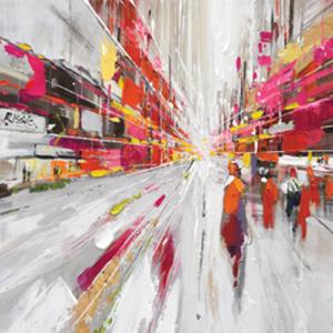 tableau-toile-peinture-abstrait-effet-3D-rose-jaune-orange-cadr'aven-magasin-deco-decoration-bois&deco-beauvois-cambresis-nord