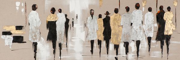 Tableau-femmes-150x50-peinture-acrylique-marron-dore-et-argent-boisetdeco-cambresis-nord