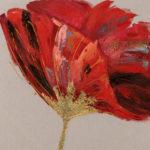 tableau-peinture-tulipe-rouge-or-fleur-deco-boisdeco-meubles-gibaud