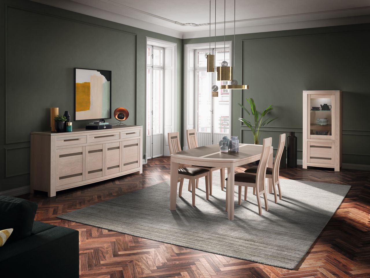 salle a manger allonges ines cacio meubles gibaud nord. Black Bedroom Furniture Sets. Home Design Ideas