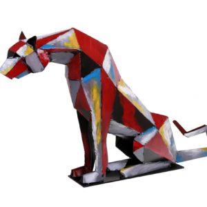 sculpture-panthere-metal-pigment-bois&deco-nord-cambresis