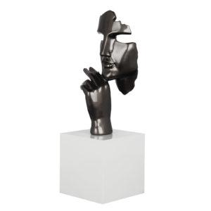 statue-sculpture-deco-visage-main-gris-decoration-bois&deco-nord