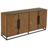 buffet-4-portes-HERRINGBONE-industriel-bois-chene-chevron-metal-richmond-interiors- bois&deco-cambresis
