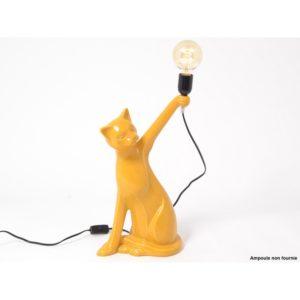 lampe-chat-jaune-moutarde-luminaire-shadow-drimmer-deco-boisdeco-nord
