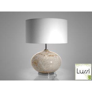 Lampe en verre soufflé H.50cm blanc, gris ou noir design Drimmer – VOLCANIQUE