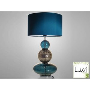 lampe design bleu gris
