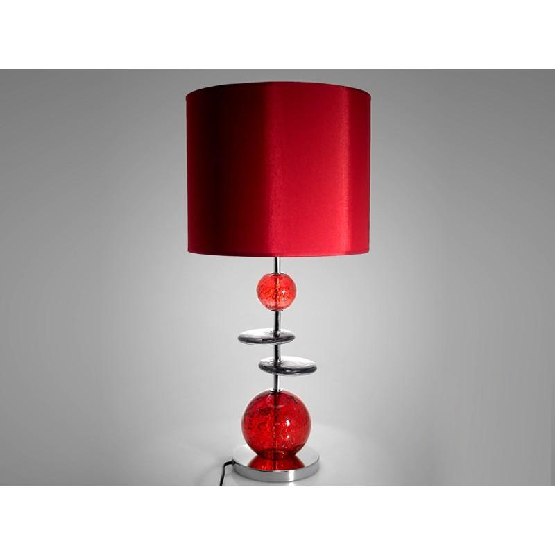 Lampe Galets En Verre Rouge Ou Gris 63cm Design Drimmer U2013 VOLCANIQUE
