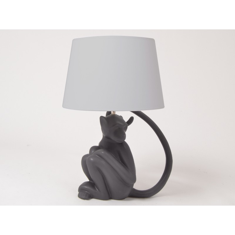 lampe singe noir luminaire shadow drimmer decoration. Black Bedroom Furniture Sets. Home Design Ideas