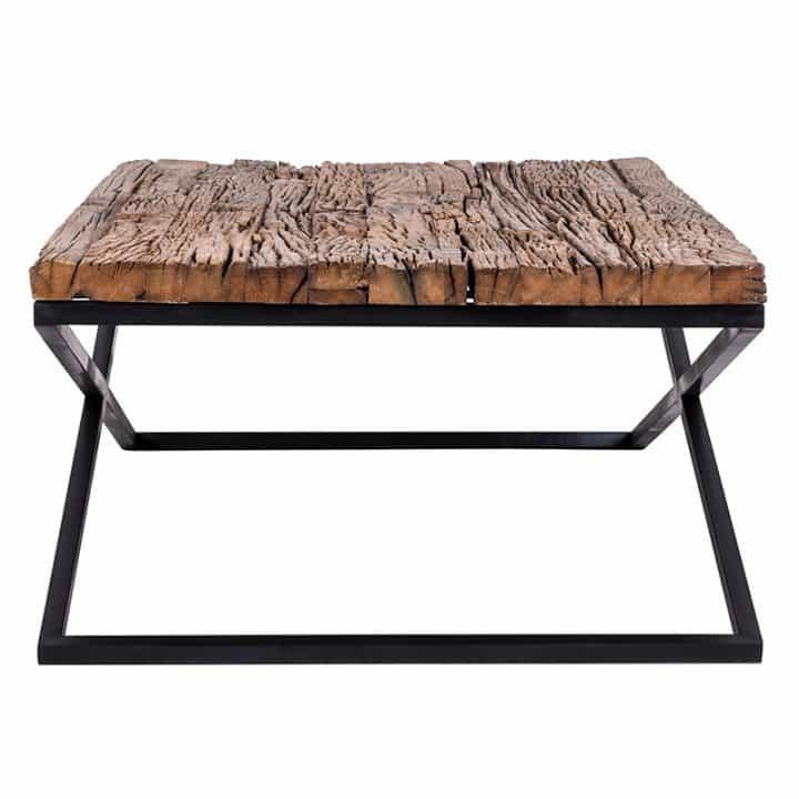 table basse richmond interiors plateau bois pied m tal kensington industriel bois deco. Black Bedroom Furniture Sets. Home Design Ideas