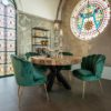 table ronde bois brut