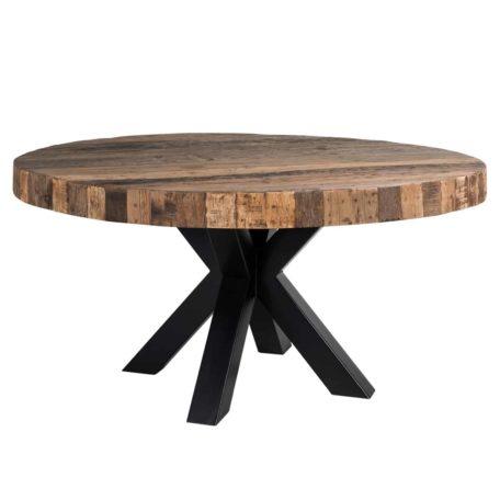 table ronde plateau epais