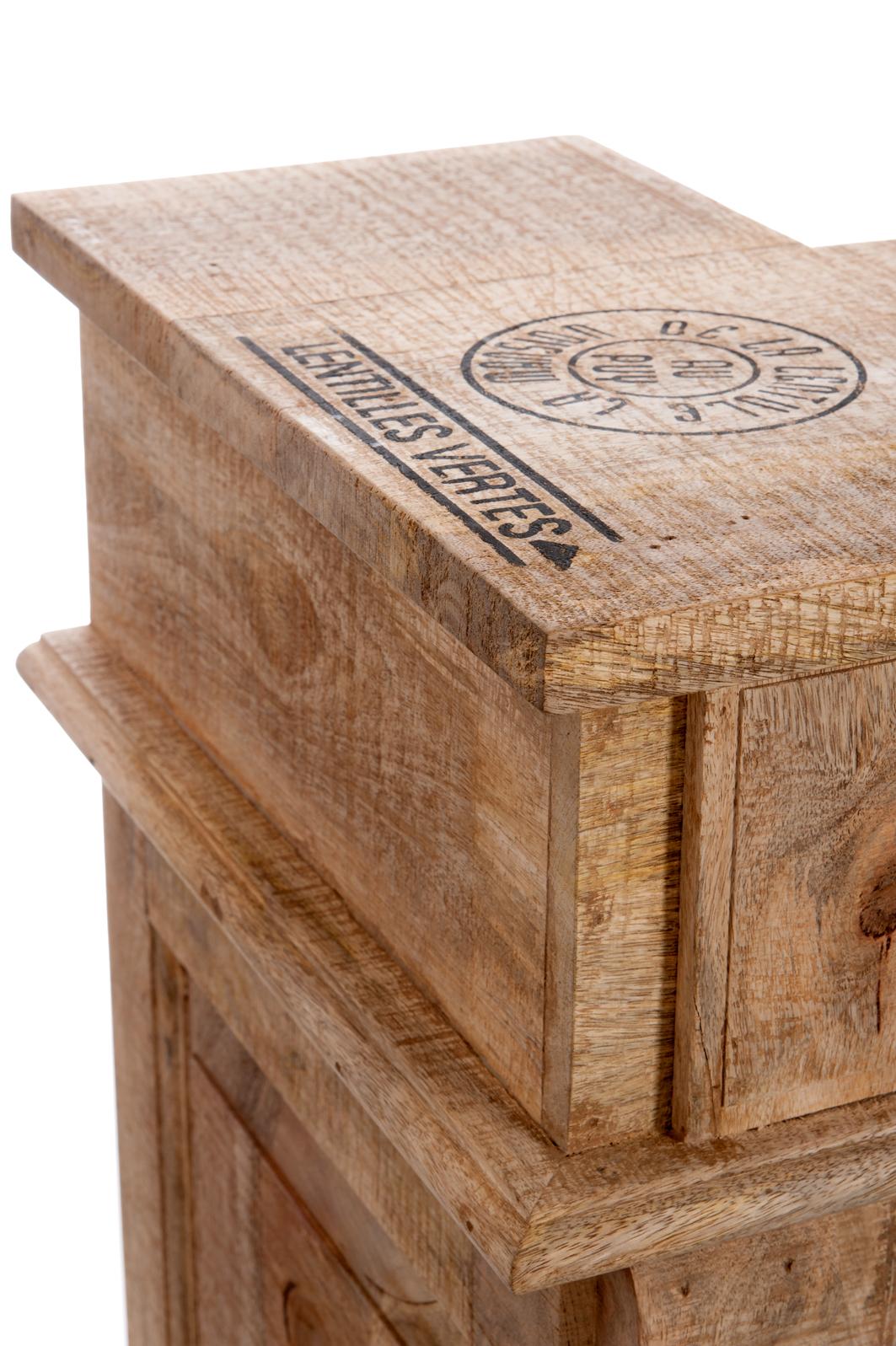 bar bois naturel tiroirs j line jolipa meuble boisetdeco nord. Black Bedroom Furniture Sets. Home Design Ideas