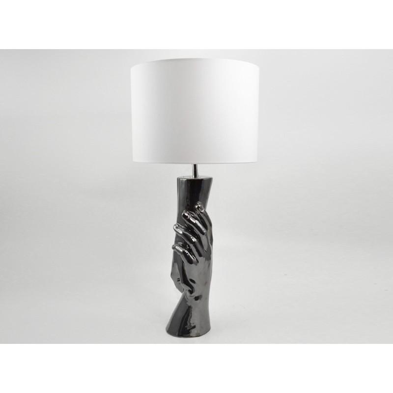 Platine Design Drimmer Bois Mains Originale amp;deco Gris Decoration Lampe n0kOP8w