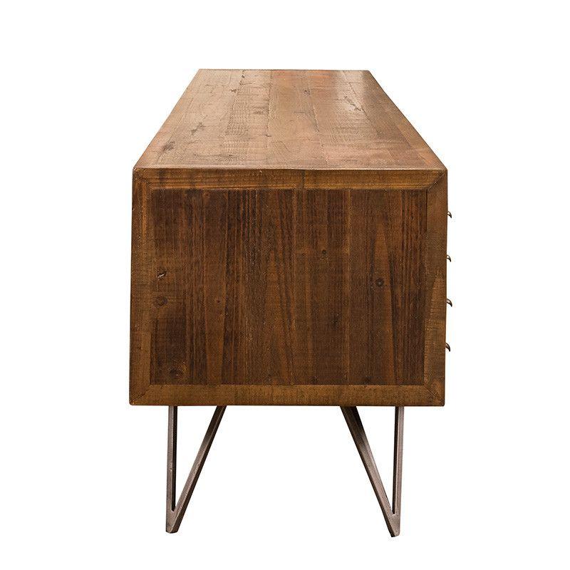 meuble tv barcley richmond interiors bois pieds epingle metal. Black Bedroom Furniture Sets. Home Design Ideas
