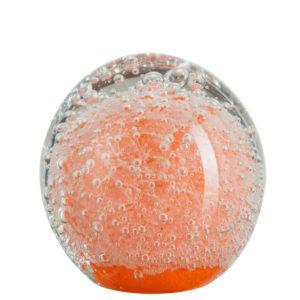 presse-papier-bulles-verre-orange-j-line-jolipa-boisetdeco-cambresis-nord