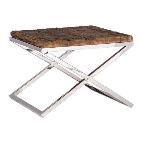 table-dappoint-richmond-interiors-kensington-bois-brut-metal-chrome-magasin-meubles-cambresis-nord
