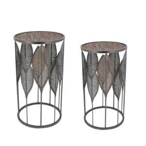 sellettes-petit-meuble-fer-metal-feuilles-socadis