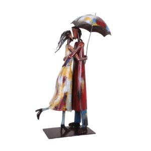 statue-metal-couple-pigment-couleurs-chaudes