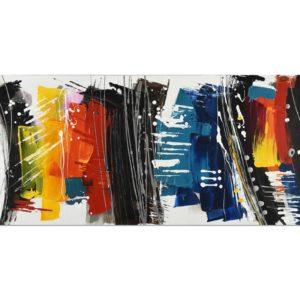 tableau-abstrait-multicolore-bandes-verticales-decoration-magasin-boisetdeco-nord