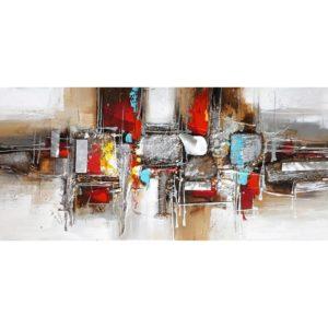 tableau-abstrait-multicolore-metal-marron-noir-