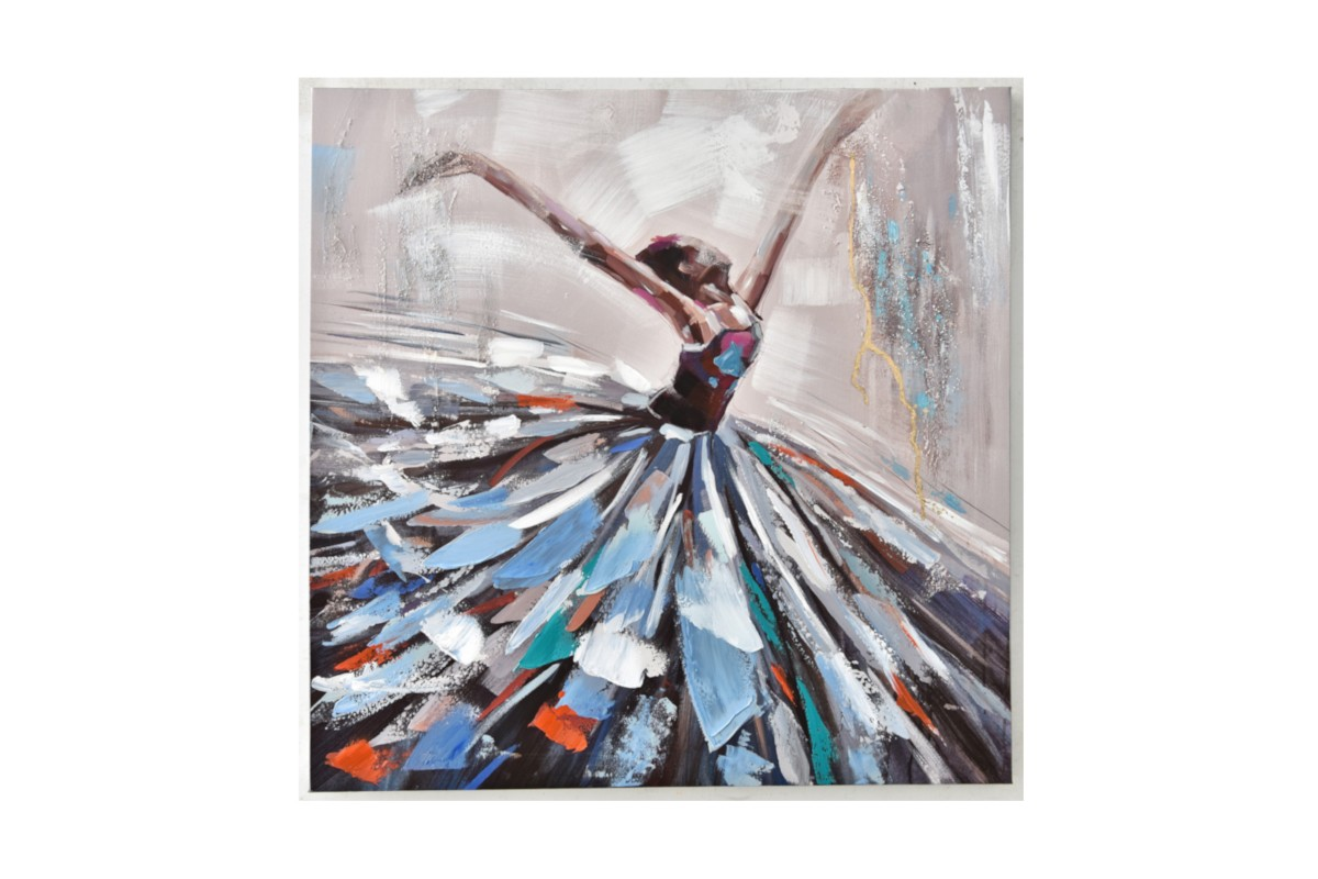 Peinture Danseuse Mouvement Couleurs Decoration Interieur