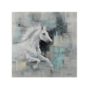 tableau-peinture-cheval-au-galop-fond-bleu-effet-flou-boisetdeco-nord
