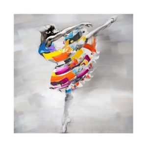 tableau-peinture-main-danseuse-arabesque-couleurs-decoration-boisetdeco-nord