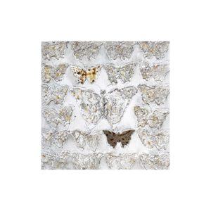 tableau-peinture-papillons-relief-effet-or-60x60