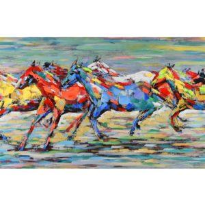 tableau-peinture-sur-toile-course-de-chevaux-multicolore-decoration