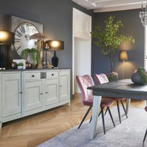 Salle à manger chêne massif table pieds bois Ateliers de Langres – SERAPHINE