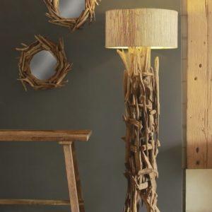 Lampadaire bois flotté naturel H.180cm design Drimmer – NATURE