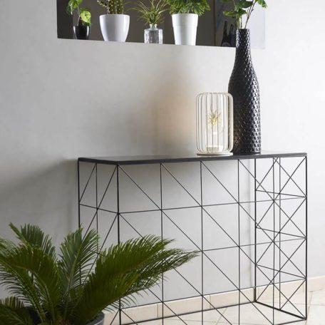 console-quadrillage-design-metal-verre-magasin-meubles-boisetdeco-cambresis-nord