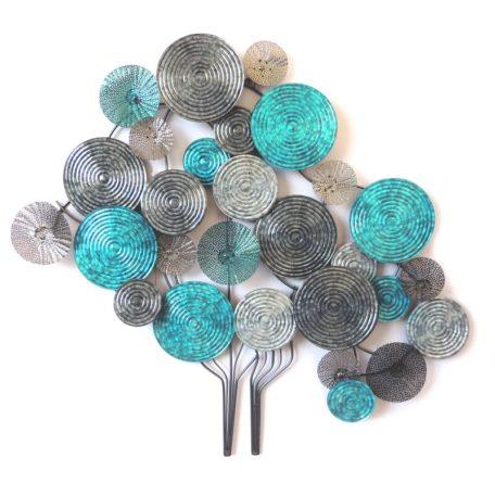 deco-murale-metal-arbre-disque-bleu-turquoise-decoration-originale