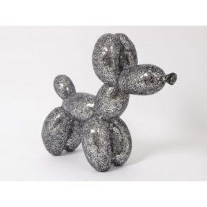 statue-chien-ballon-exaltation-mosaique-verre-gris-design-drimmer